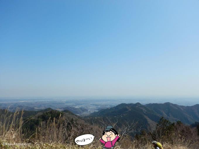景信山山頂からの景色