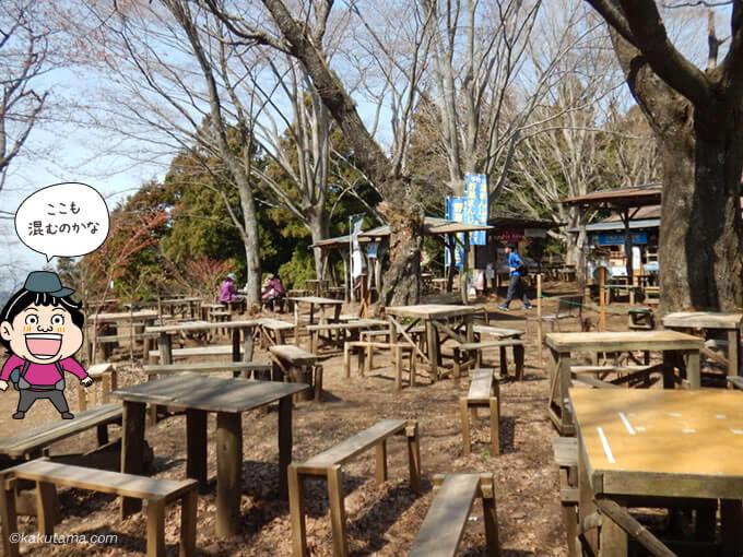 景信山山頂の茶屋