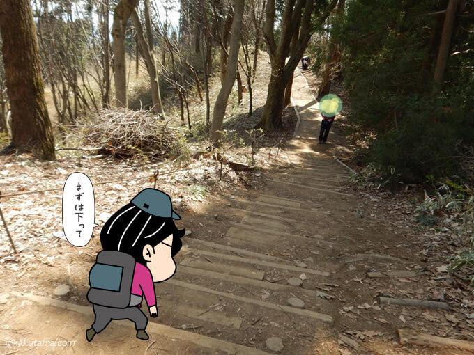 小仏城山から歩き出す