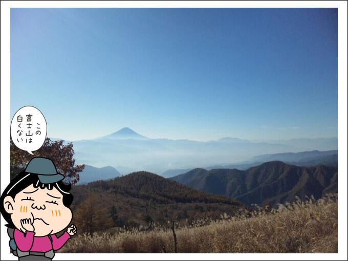 振り返ると富士山秋の思い出