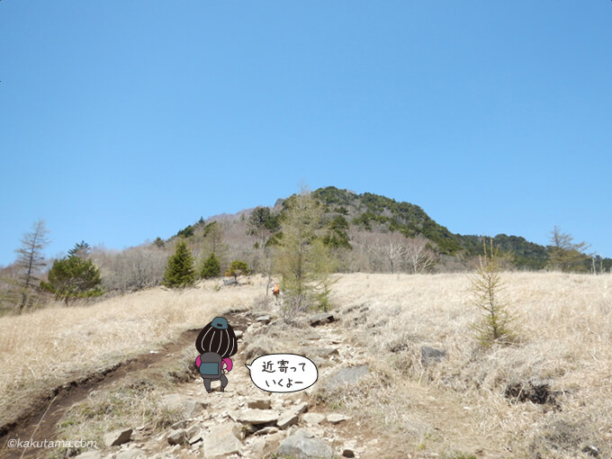 扇平から見上げる乾徳山