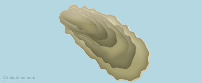 牡蠣の殻に頼るイラスト