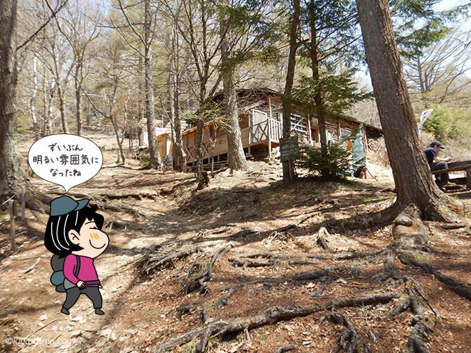 明るくなった富士平見小屋
