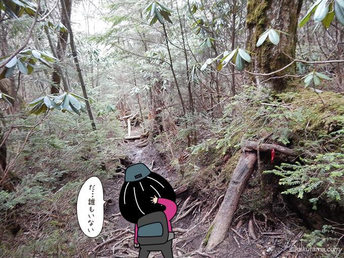不動滝ルートには誰も居ない