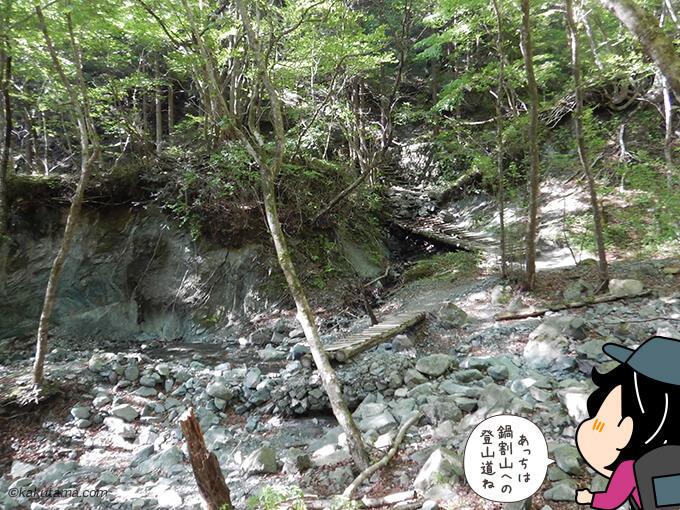 鍋割山への一般登山道