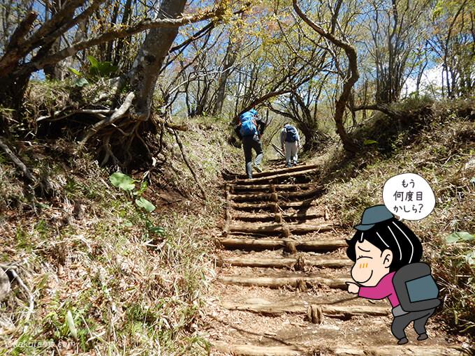 塔ノ岳山頂方面へ歩く3