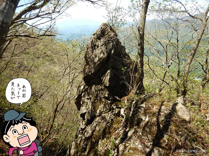 見覚えのある岩