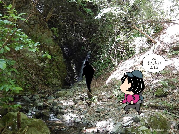 二俣への分岐にある滝