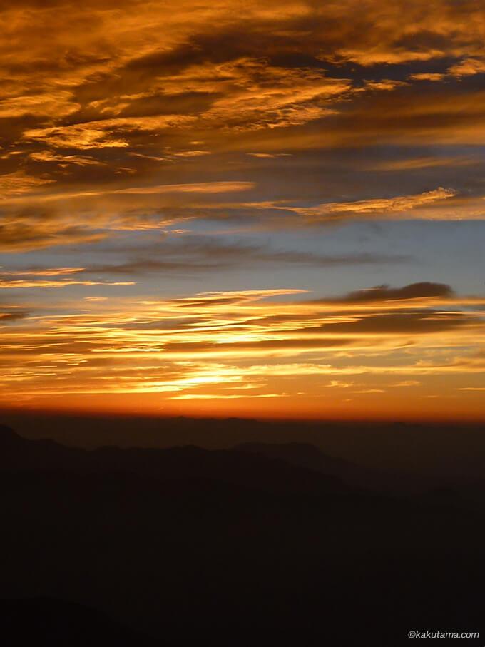 白馬岳の日の出待ち3