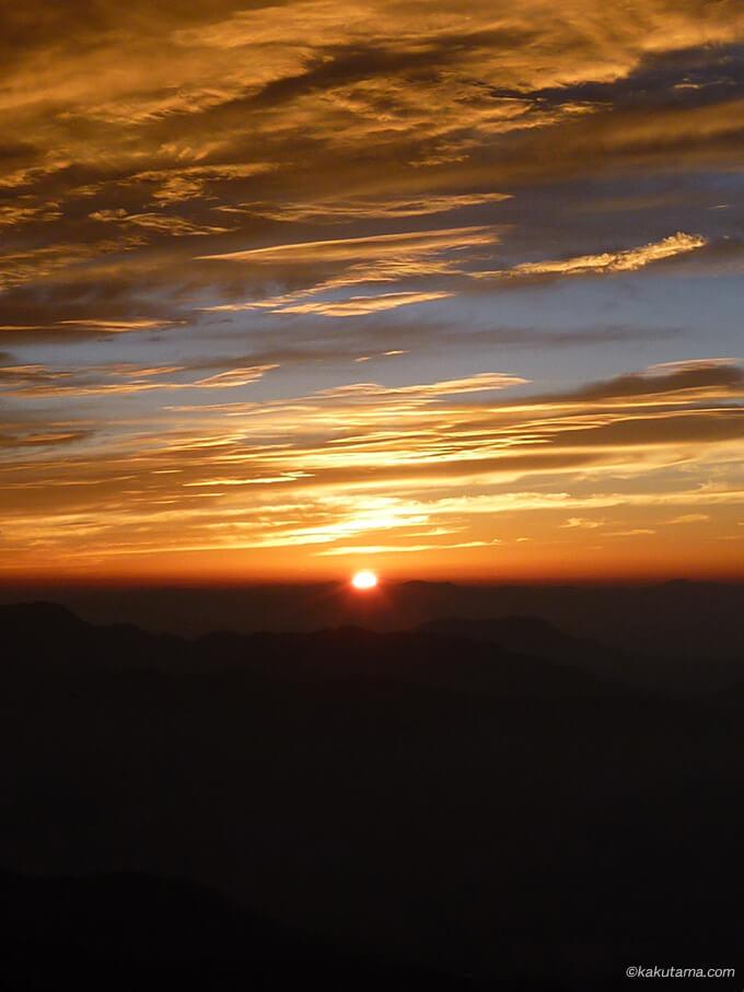 白馬岳から見た日の出