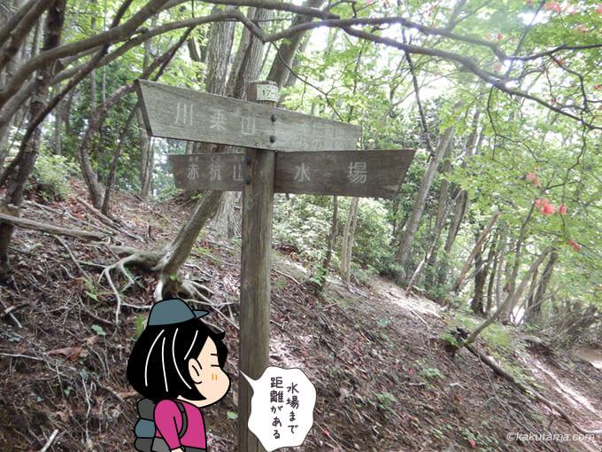 水場の標識