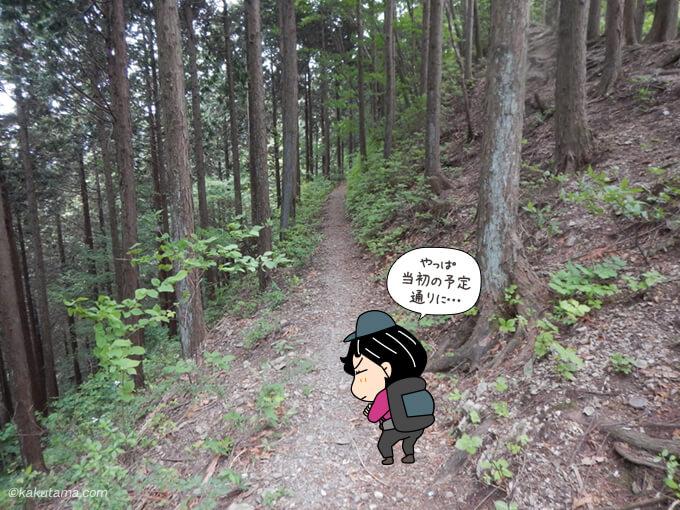 鳩ノ巣駅に向かって歩き出す