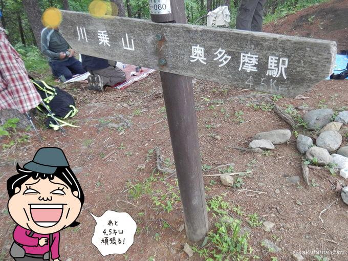 本仁田山から奥多摩駅へ向かって下山