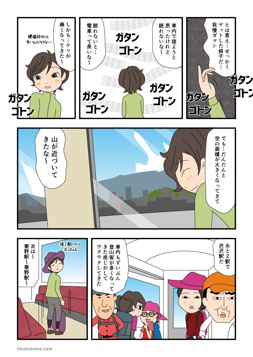 登山へ行くために電車に乗っていると遭遇するアレコレ2