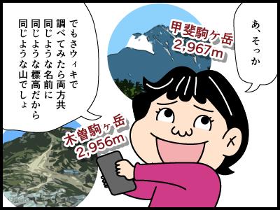 駒ヶ岳に関する4コマ漫画2