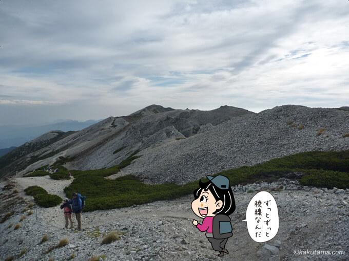 楽しい稜線