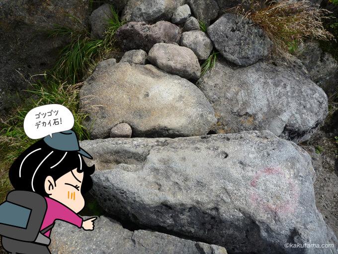 岩はデカイ