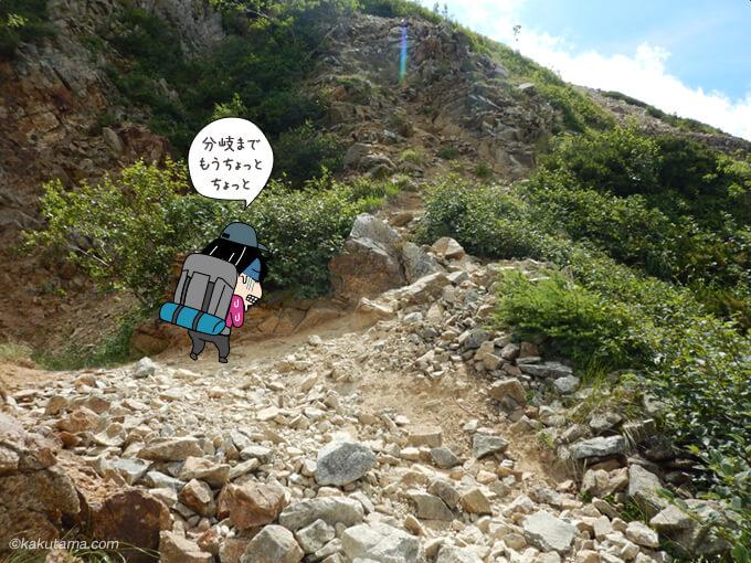 暑くて辛い登り