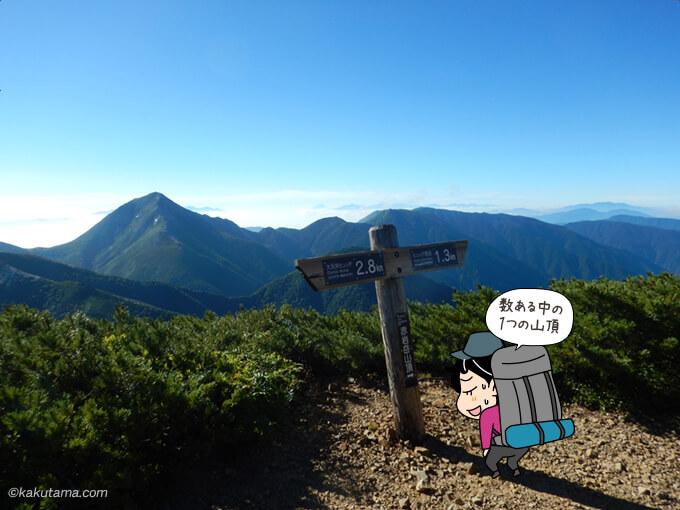 赤岩岳山頂に到着