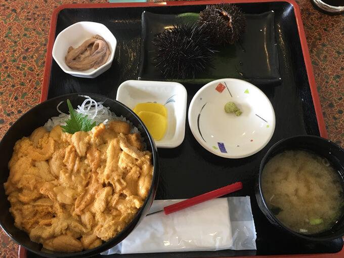 北海道余市のウニ丼