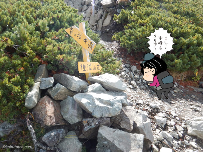 爺ヶ岳中峰もクリア