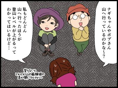 他のみんなは登山へ行っているハズの4コマ漫画