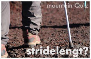 山を歩くには大股と小股どっちがいい?