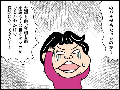 悪天候続きで登山へ行けていない4コマ漫画3