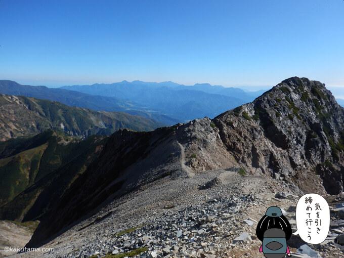 五竜山荘への下り道