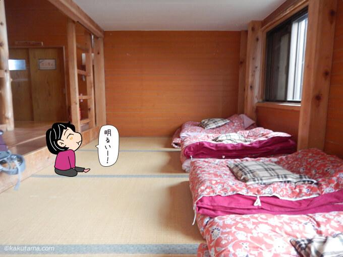 八峰キレット小屋寝室1