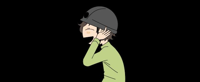 キレットを通る時はヘルメットを着用しようイラスト1