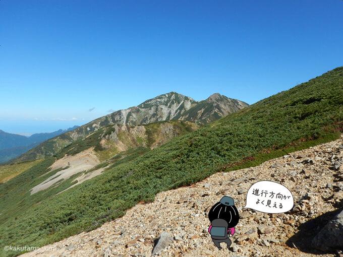 唐松岳が見える