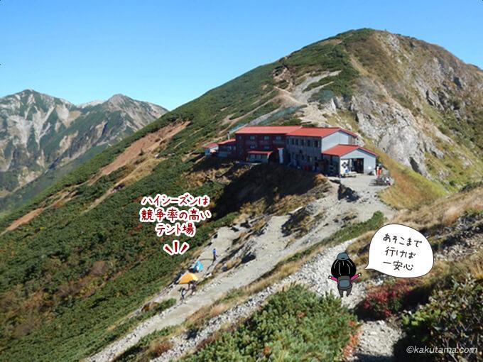 赤いお屋根の五竜山荘