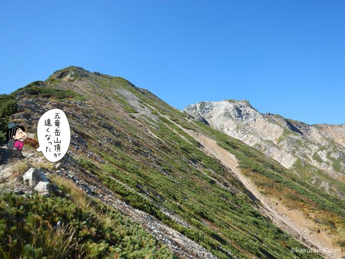 五竜岳を振り返る