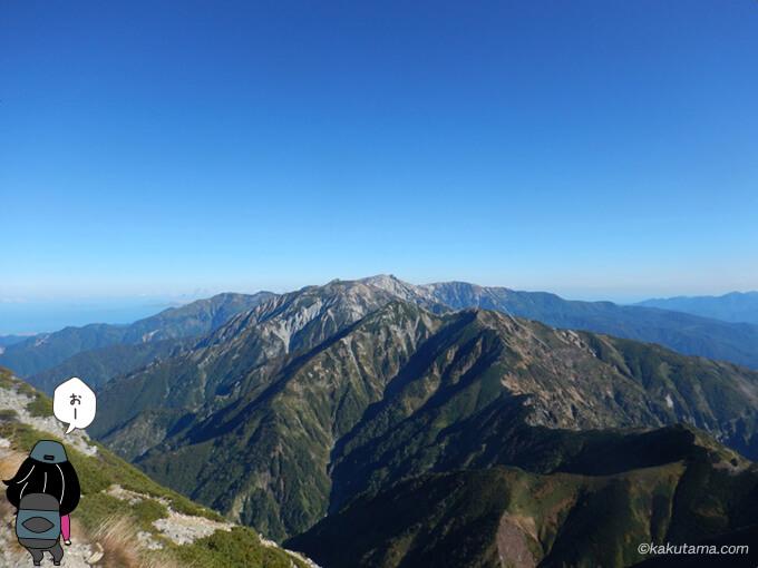五竜岳からの眺め1