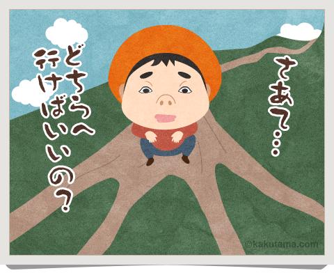 登山用語枝尾根にまつわるイラスト