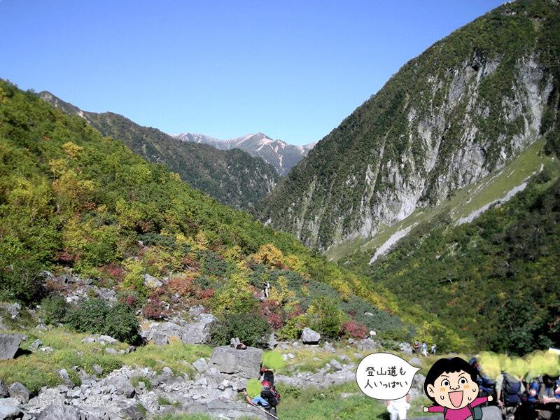 登山道の混雑
