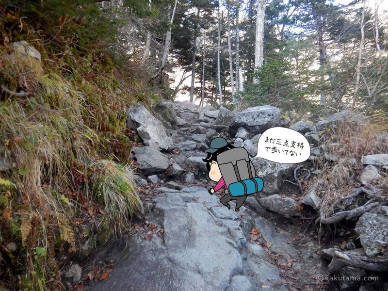 難しい登りはない