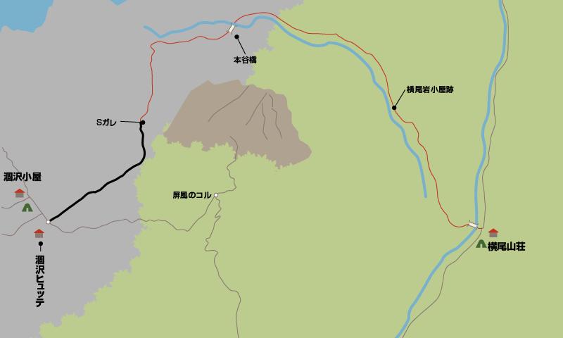 横尾大橋から涸沢ヒュッテまでの地図_0004