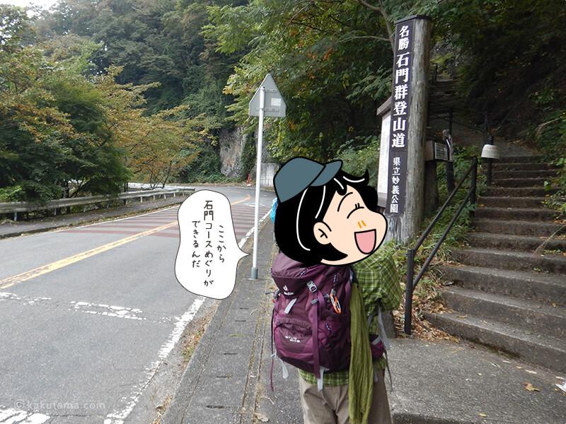 石門コースの入口