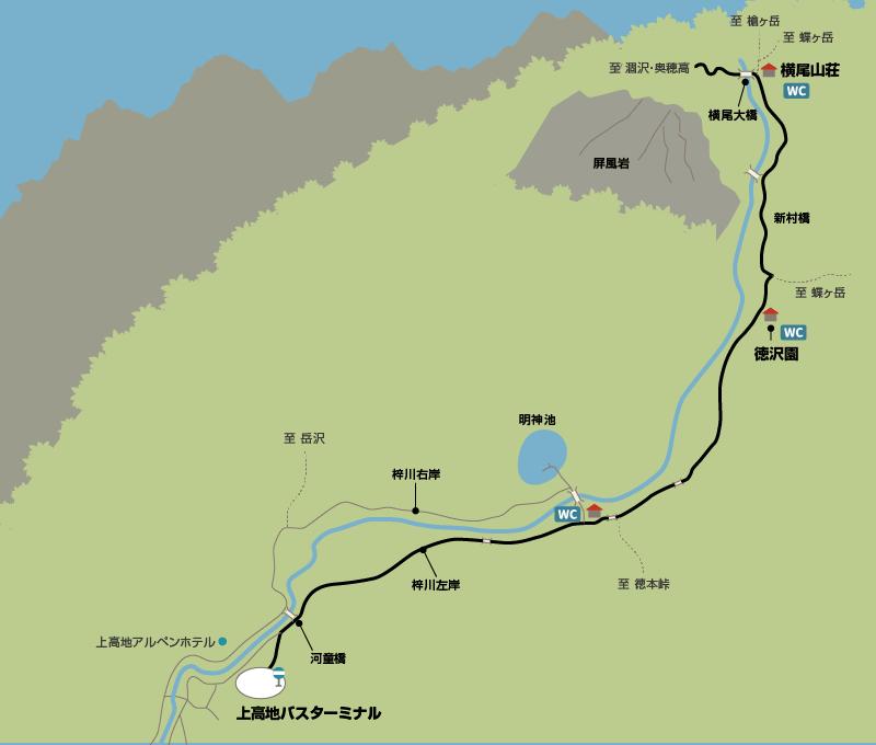 涸沢カールまでの地図