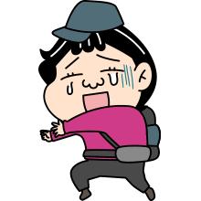 泣いている登山者のイラスト