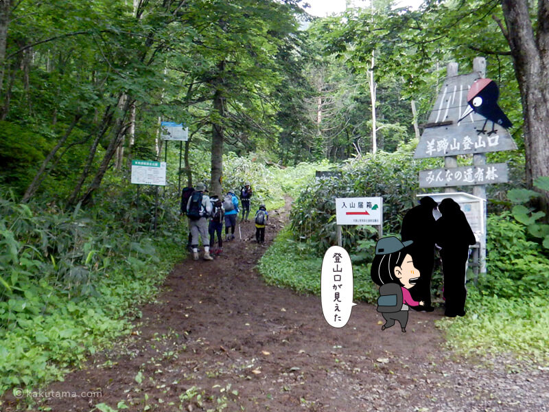 真狩コース登山口