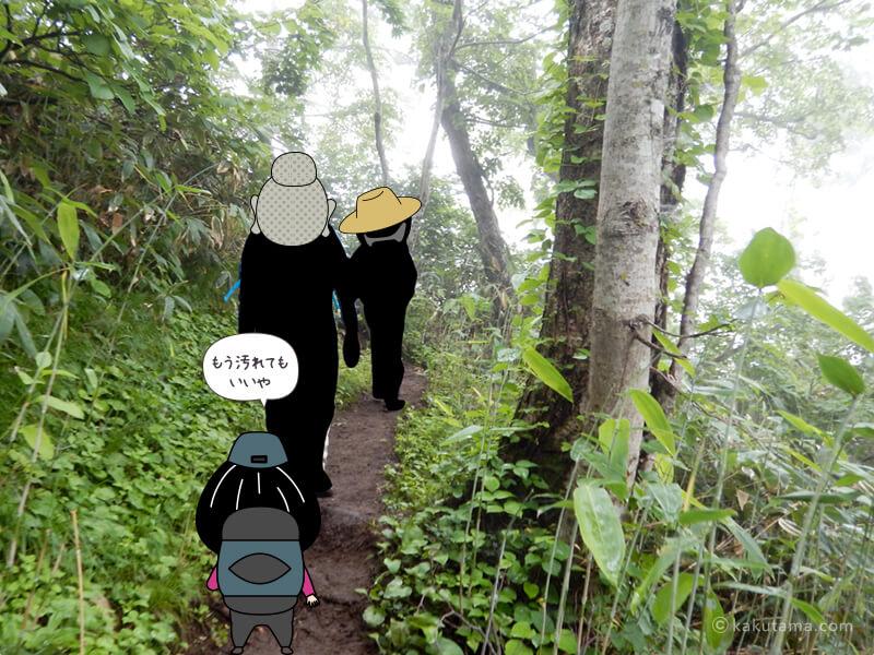 登山道をひたすら歩く