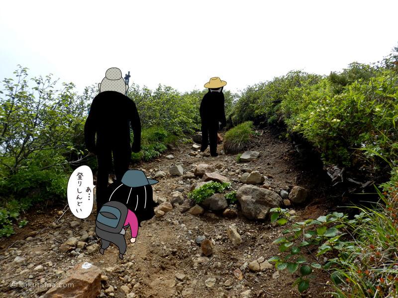 羊蹄山山頂へ向かって歩き始める2