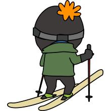 スキーヤーのイラスト2