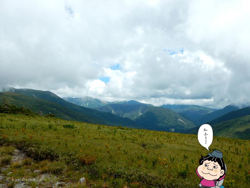 太郎平小屋から見る北アルプス