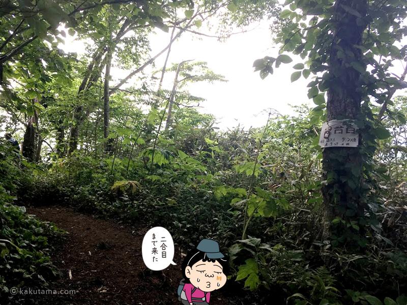 倶知安コース二合目看板