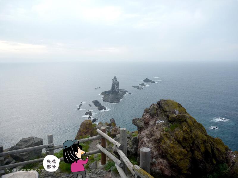 神威岬先端