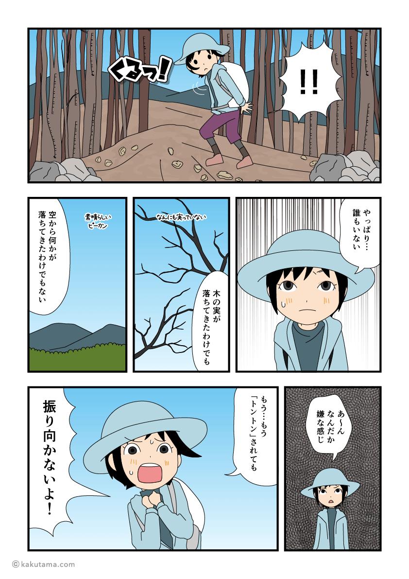 一人で登山をしていてトントンされるが誰もいない漫画2